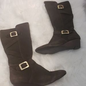 Nine west wnkind chocolate brown boots. Size 8